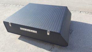 Dachbox farbpulverbeschichtet in schwarz matt 1415 x 1180 x 310 mm-1